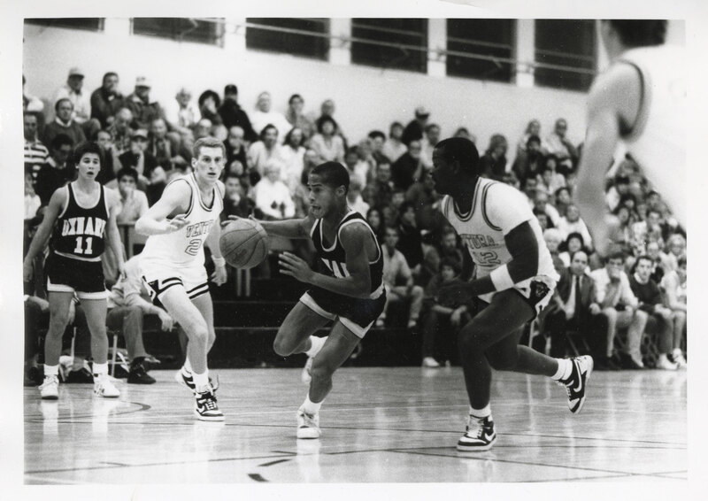 Action Shot From Basketball Game Between Oxnard and Ventura High Schools, 1987