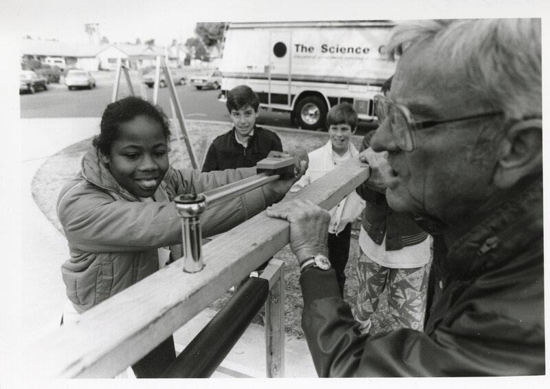 Science Connection Crew Leading Science Experiments at Serra School, Ventura, 1987