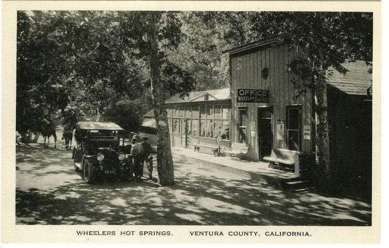 Wheelers Hot Springs postcard