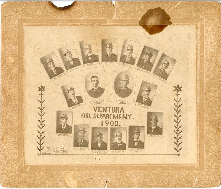 Ventura Fire Department, 1900, Portraits