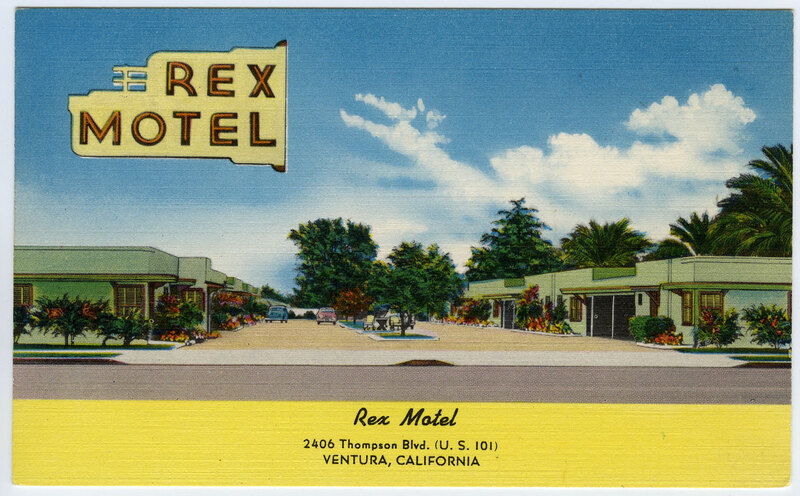 Rex Motel postcard