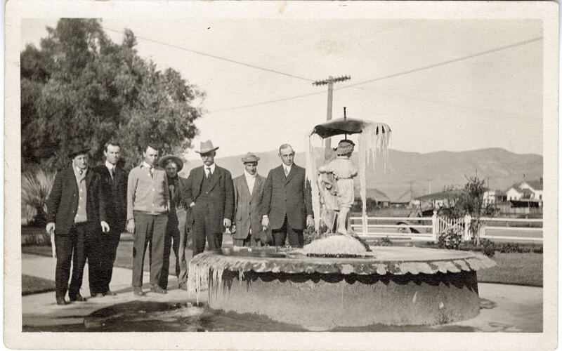 Fountain at Old Jail-Now Located at Olivas Adobe postcard