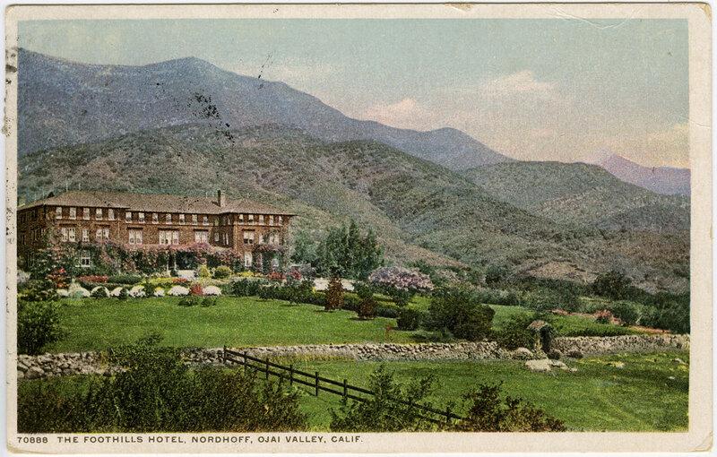 The Footills Hotel, Nordhoff Postcard