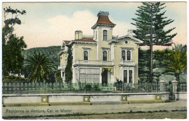 Residence in Ventura in Winter postcard