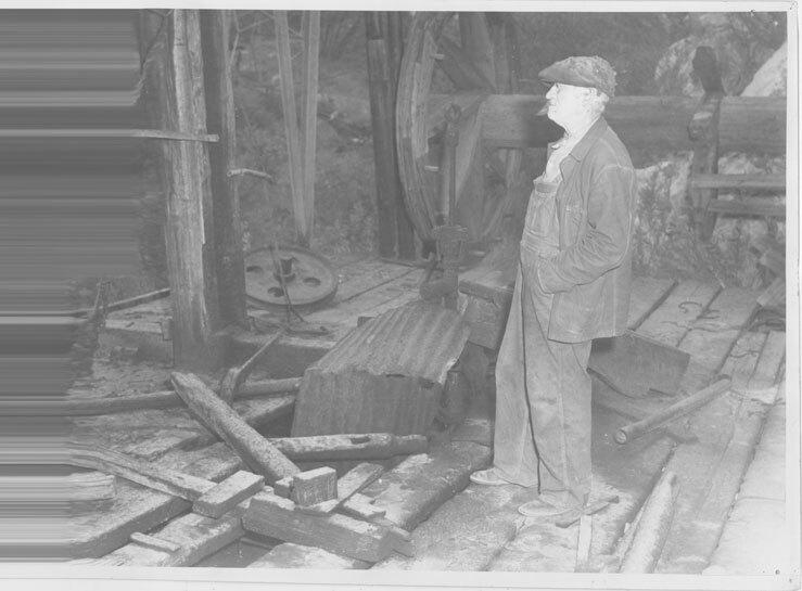 Old Time Wooden Drilling Platform