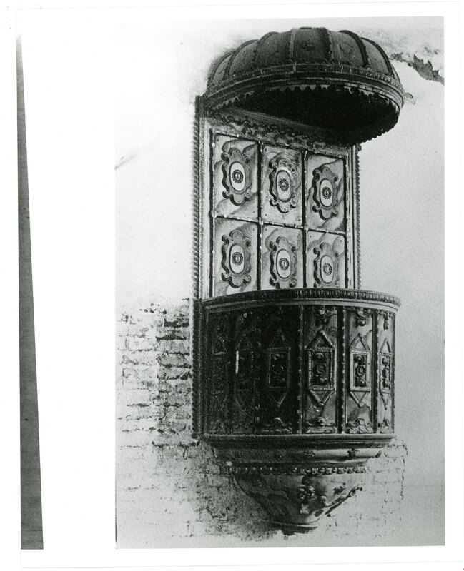 Original Pulpit From San Buenaventura Mission