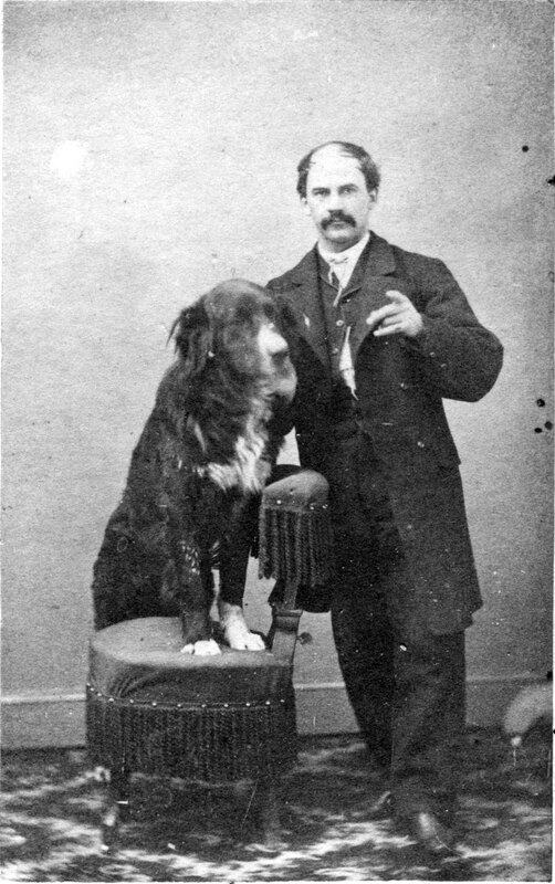 J.C. Brewster With Dog