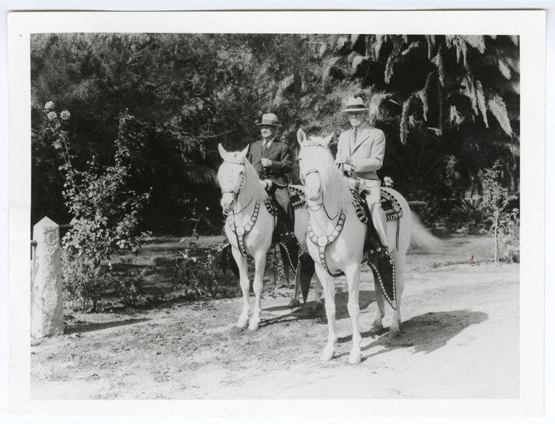 Adolfo Camarillo and Thomas Clarke on Horseback