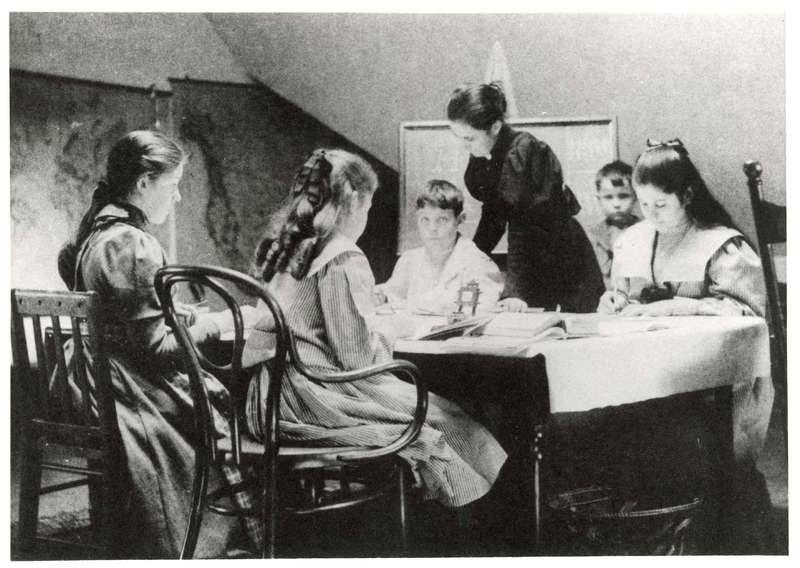 Bard family school room and teacher, Bard Mansion