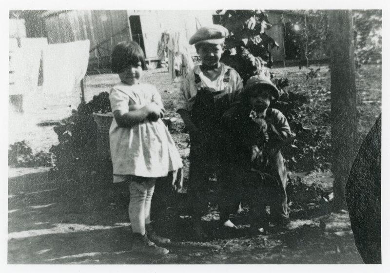 Rosa, Bud, and Ruby Vanegas, Childhood Group Photo