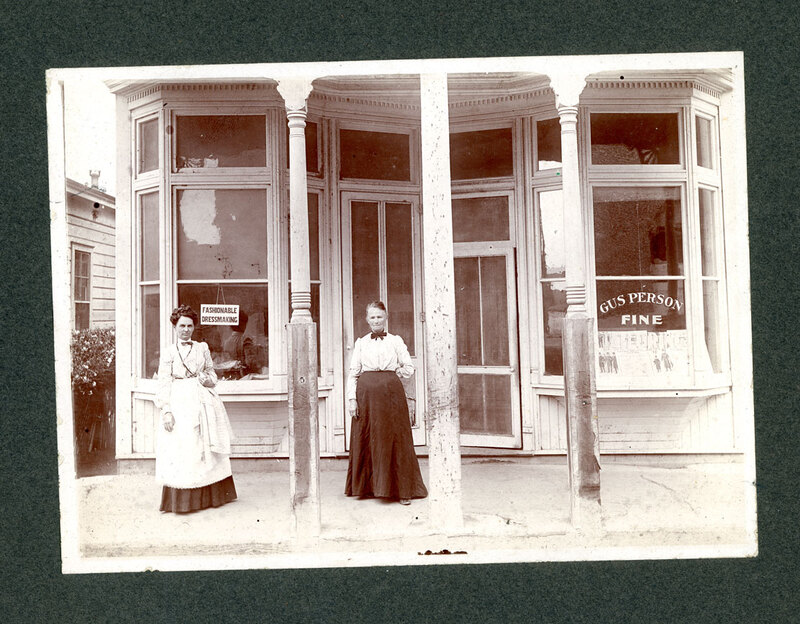 Two Ladies in Front of Oak Street Store in Ventura