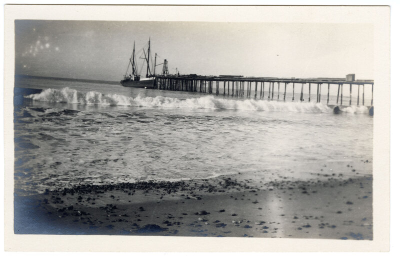 Untitled, (View of Wharf) Post Card