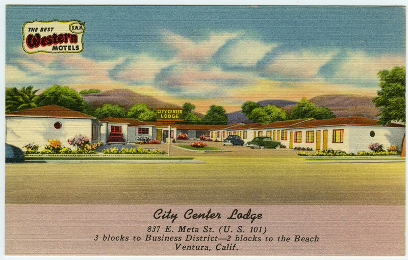 City Center Lodge, The Best Western Motels post card