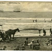 Ventura Beach Scene Post Card