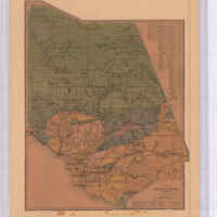 Ventura County California: Showing Land Grants, Township & Range Lines, Railroads