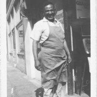 Juan Gonzalez Salas in Front of El Brillante Market