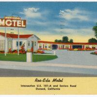 Ros-Eda Motel postcard