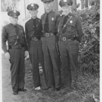 Four uniformed police officers