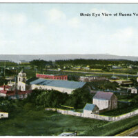 Bird's Eye View of Buena Ventura Postcard