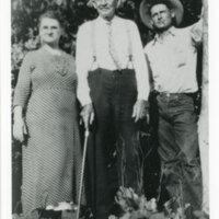 Mary Carrillo Ortega, E. C. Ortega, and Randolph Carrillo Group Photo