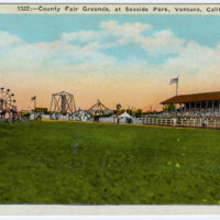 County Fair Grounds at Seaside Park, Ventura, Calif. postcard