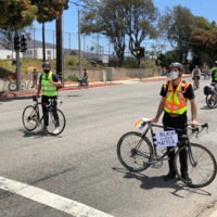 Protesters on Bicycles - BLM