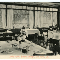 Dining Room of Pierpont Cottages in Ojai Postcard