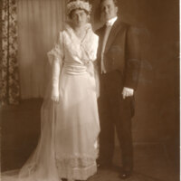 Edith May Hobson & Walter Henry Hoffman, Jr. Wedding Portrait