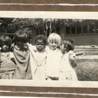 Five Children Outside of Palm Street Kindergarten