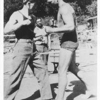 Fritz Huntsinger Sparring with Jack Dempsey
