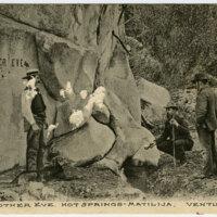 Mother Eve Hot Springs, Matilija, Ventura postcard