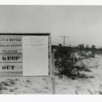 Entrance Sign To Gila Relocation Center