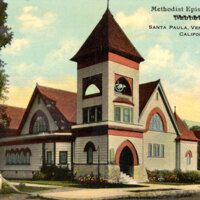 Methodist Episcopal Church, Santa Paula postcard