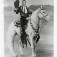 Painting of Adolfo Camarillo on Horseback