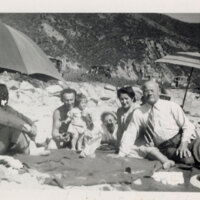 Max Riave and Others at Rincon Beach