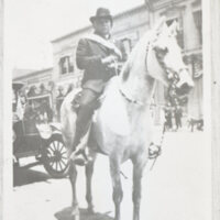 "Baltazar ""Charo"" Ruiz on Horse, Teddy"