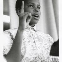 Jonathan Sprinkles, winner of the 1989 African-American Speech Exposition.
