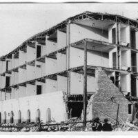 California Hotel, Santa Barbara Earthquake Damage postcard