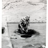 Robert O. Browne at Albinger Archaeological Dig