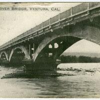 Ventura River Bridge, 1918 postcard