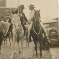 Adolfo Camarillo and Abe Hobson on Horseback