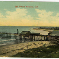 Wharf, Ventura Post Card