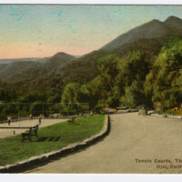 Tennis Courts, Thacher School, Ojai postcard