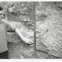 Drill Holes for Explosives on Boulder