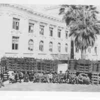 Group Portrait with Contraband Outside of County Courthouse
