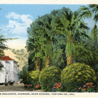 Senator Bard's Residence, Hueneme postcard