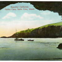 Valdez Cave on Santa Cruz Island Postcard