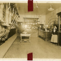 Interior of Hobson Brothers Meat Packing Company