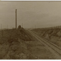 Southern Pacific Railroad Cut Near Somis, 1904