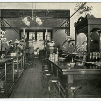 Interior View, Peacock's Candy Store, Oxnard postcard